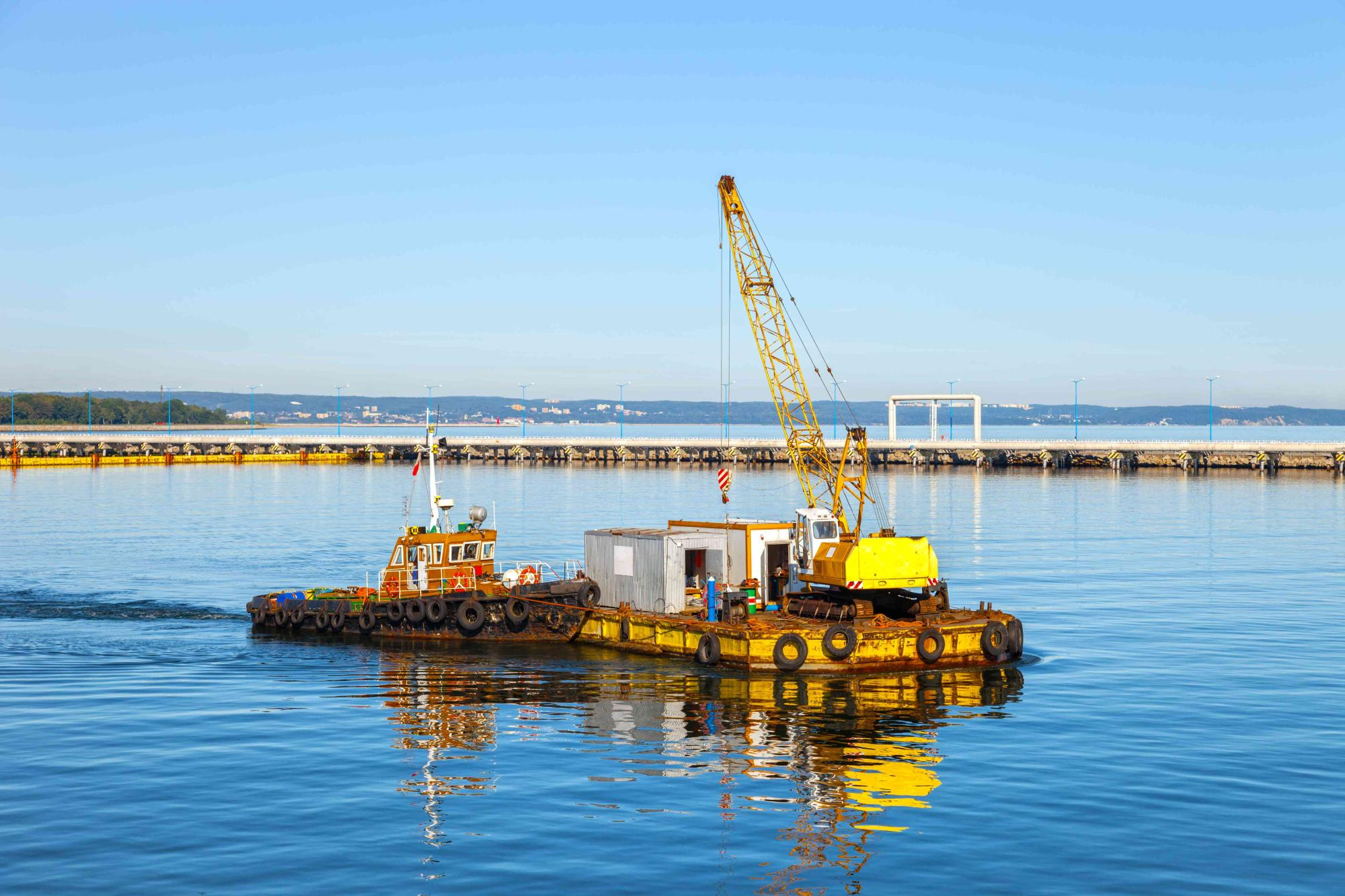 Floating Pontoon And Crane